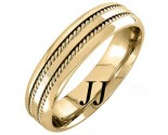 Yellow Gold Twin Braided Wedding Band 6mm YG-962
