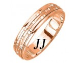 Rose Gold Brick Wedding Band 5mm RG-973