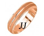 Rose Gold Sandblasted Wedding Band 5mm RG-975