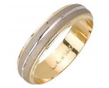 Two Tone Gold Sandblasted Wedding Band 5mm TT-975