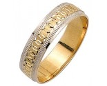 Two Tone Gold Designer Wedding Band 5mm TT-977
