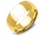 10mm Plain Yellow Gold Wedding Band PLNYB-10mm