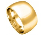 12mm Plain Band Yellow Gold Heavy Wedding Band PLNYB-12mm
