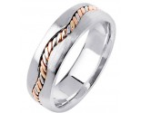 Tri Color Gold Wedding Band 7mm TC-299B