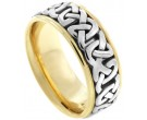 Two Tone Gold Celtic Wedding Band 8.5mm TT-2352