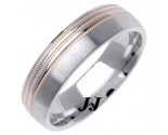 Two Tone Gold Designer Wedding Band 6mm TT-1282B