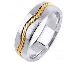 Two Tone Gold Wedding Band 7mm TT-299A