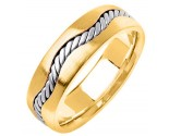 Two Tone Gold Wedding Band 7mm TT-299B