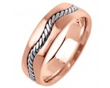 Two Tone Gold Wedding Band 7mm TT-299D