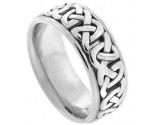 White Gold Celtic Wedding Band 8.5mm WG-2350