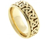 Yellow Gold Celtic Wedding Band 8.5mm YG-2350