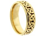 Yellow Gold Celtic Design Wedding Band 7mm YG-2354