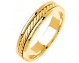 Yellow Gold Hand Braided Wedding Band 5mm YG-292