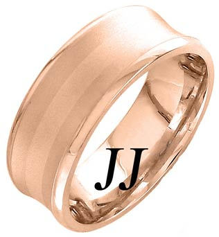 Rose Gold Concave Wedding Band 8mm RG-1159