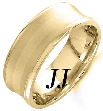 Yellow Gold Concave Wedding Band 8mm YG-1159