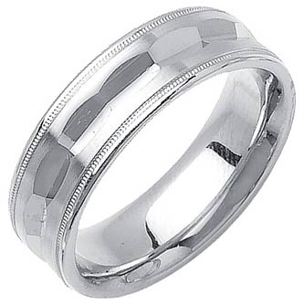 White Gold Fancy Wedding Band 7mm WG-1392