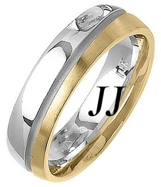 Two Tone Gold Two Face Wedding Band 6mm TT-1460
