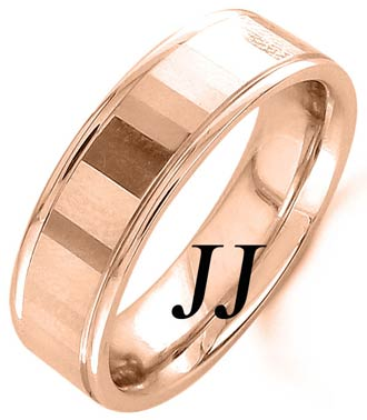 Rose Gold Mirror Effect Wedding Band 6.5mm RG-1557