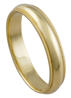 Yellow Gold 14K Gold Wedding Band 4mm YG-374
