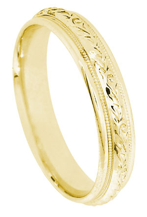 Yellow Gold 14K Gold Wedding Band 4.8mm YG-380
